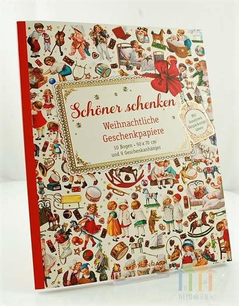 Nostalgische Weihnachtsmotive.Geschenkpapier Weihnachtliche Geschenkpapiere